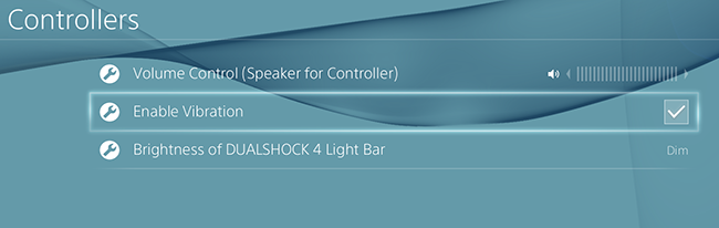 Image highlighting how to enable vibration function on your dualshock 4 on ps4